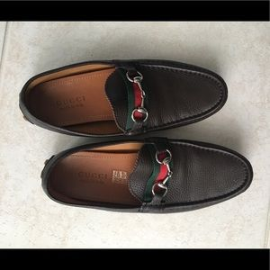 Men's Gucci Leather Slide-On Loafer's, Size 8